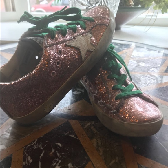 b76a9bddb0bf Golden Goose Shoes | Ggdb Kids Superstar Laminated Glitter Sneakers ...